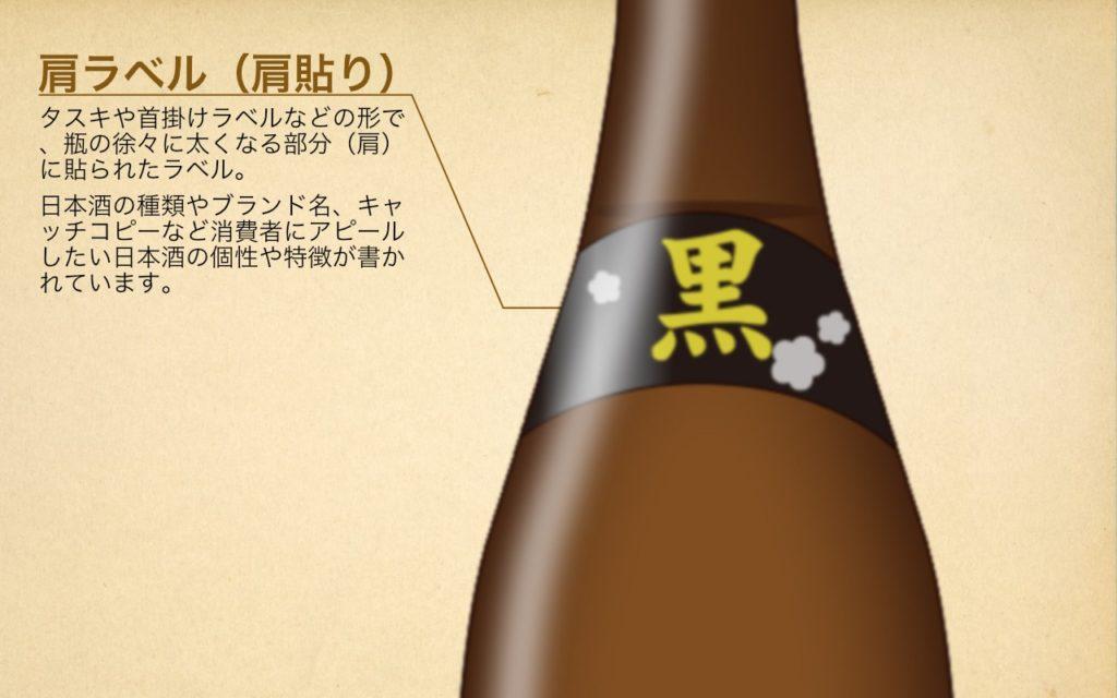 日本酒のラベル(肩ラベル)