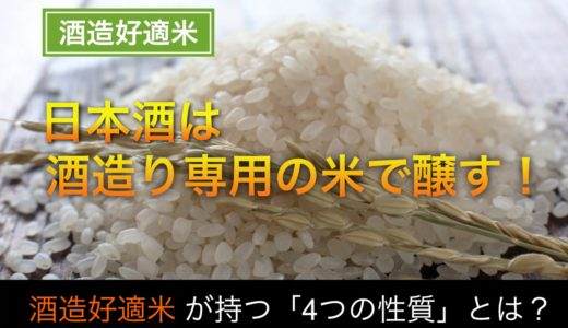 酒造好適米(酒米)とは?|酒造りに特化した酒造好適米が持つ4つの性質