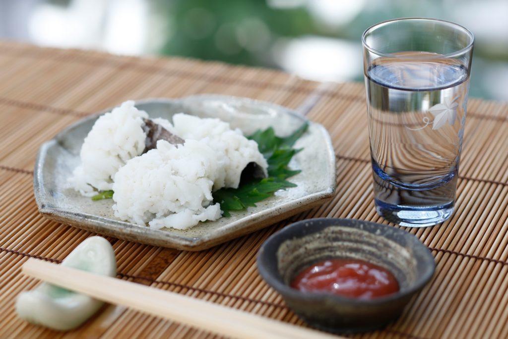 白身魚と冷酒