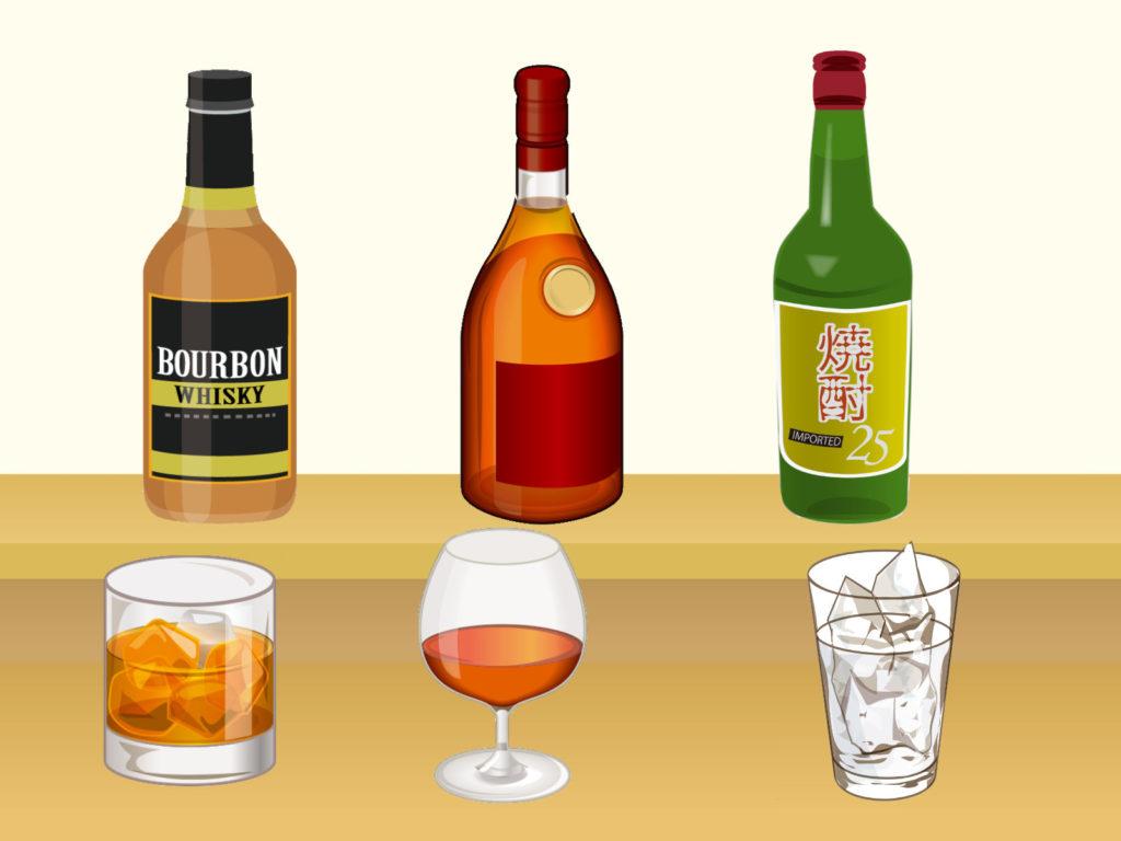 蒸留酒(ウィスキー・ブランデー・焼酎)