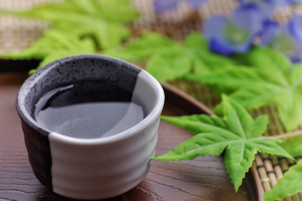 日本酒と紅葉