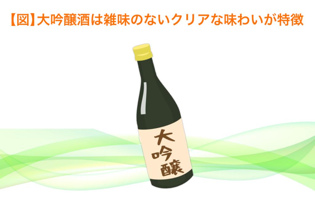 大吟醸酒は雑味のないクリアな味わいが特徴