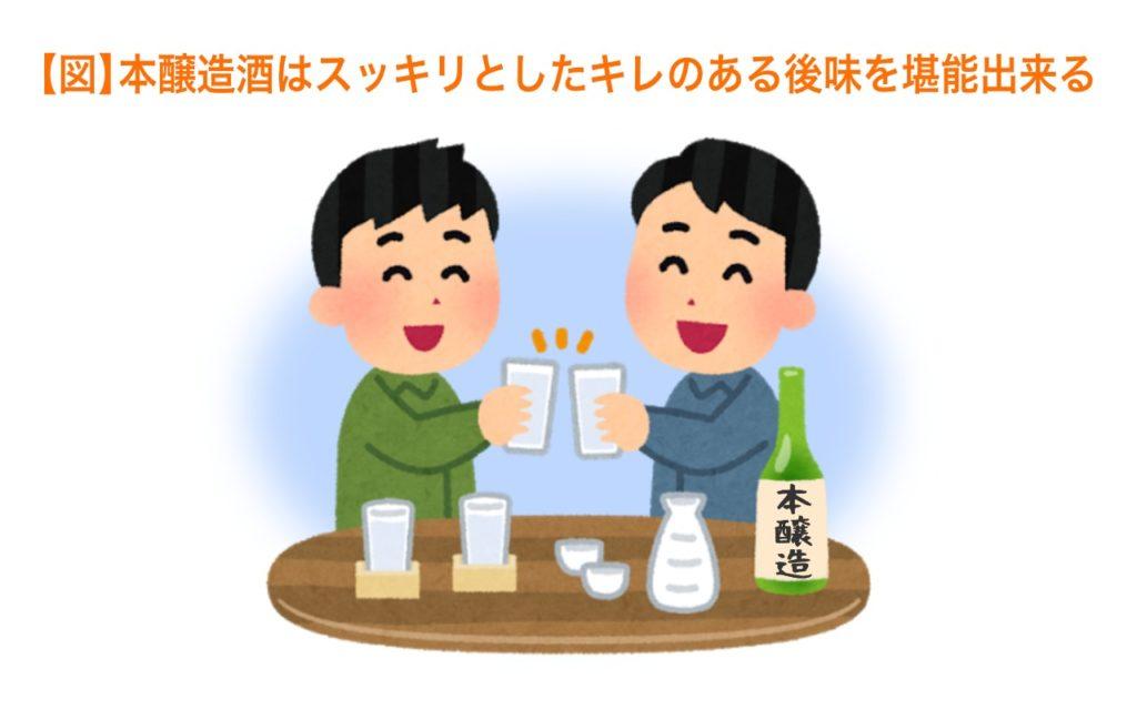 本醸造酒はスッキリしたキレのある後味を堪能できる