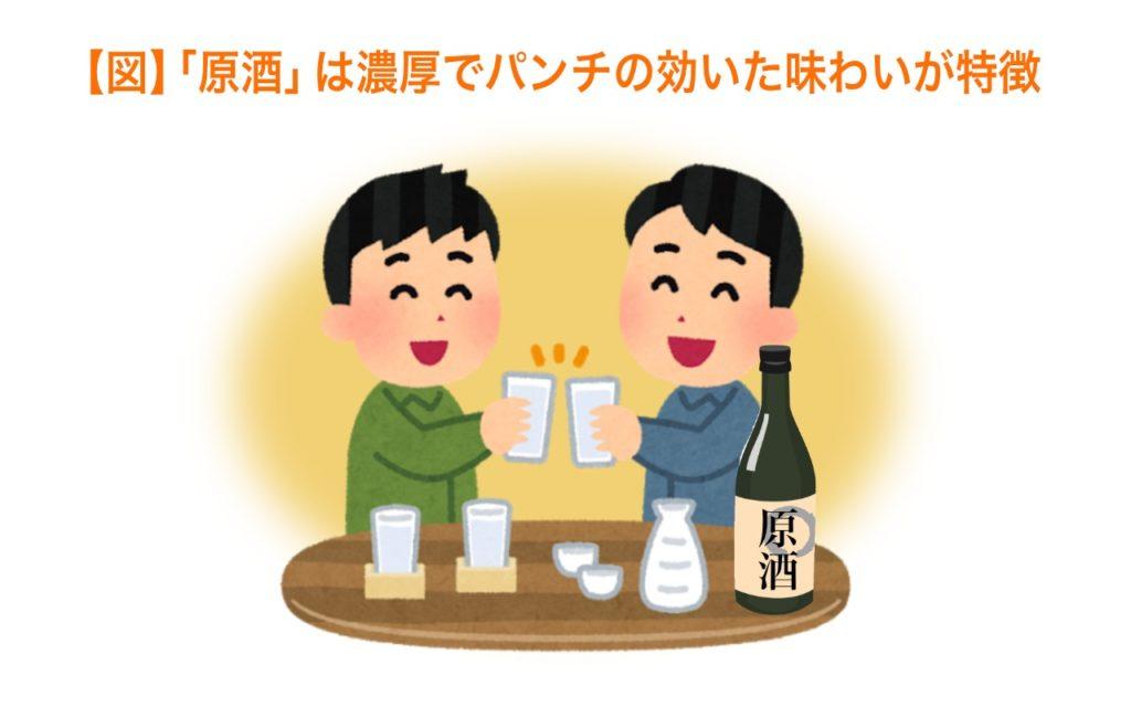 原酒は濃厚でパンチの効いた味わいが特徴